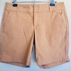 "J.Crew Factory tan 9"" cotton Bermuda shorts"